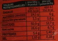 Madeleines Extra Moelleuses Marbrées Chocolat - Informations nutritionnelles - fr