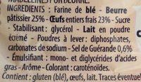 Madeleines Bretonnes Pur Beurre - Ingrédients - fr