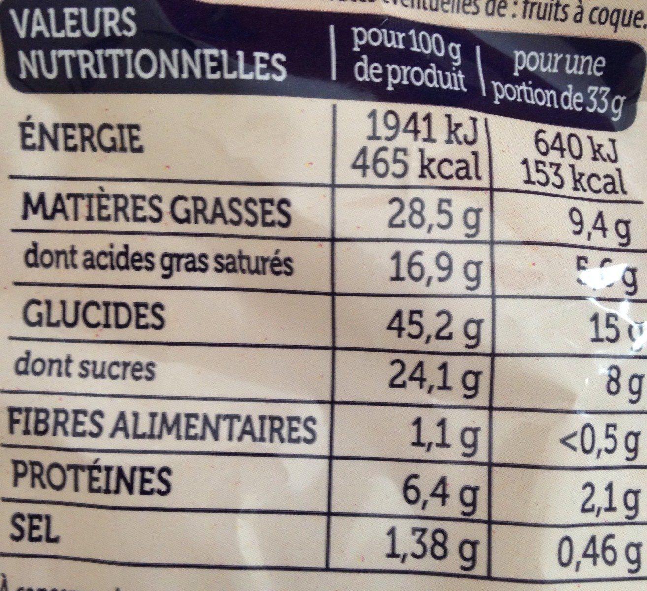 Madeleines Bretonnes Pur Beurre - Informations nutritionnelles - fr
