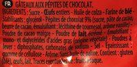 Mini's Pépites Chocolat - Ingrédients - fr