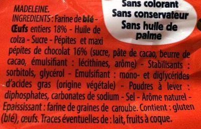 Madeleines extra moelleuses - Ingrédients - fr