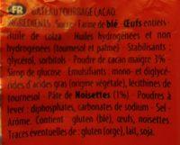 Gateau fourré chocolat goût noisette - Ingrédients