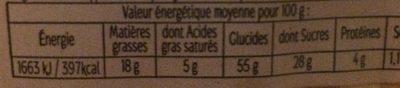 Cake Breton aux fruits confits - Informations nutritionnelles - fr