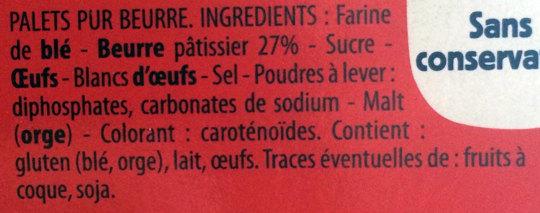 Les Palets Pur Beurre - Ingredienti - fr