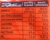 Madeleines Extra Moelleuses Perles de Sucre - Informations nutritionnelles - fr