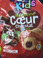 Madeleines Cœur Chocolat Goût Noisette - Product