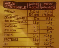 Madeleines Cœur Chocolat Goût Noisette - Nutrition facts