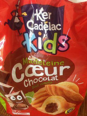 Kids Madeleine Cœur Chocolat Goût Noisette - Produit - fr