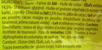 Kids Madeleine Cœur Chocolat Goût Noisette - Ingrédients - fr