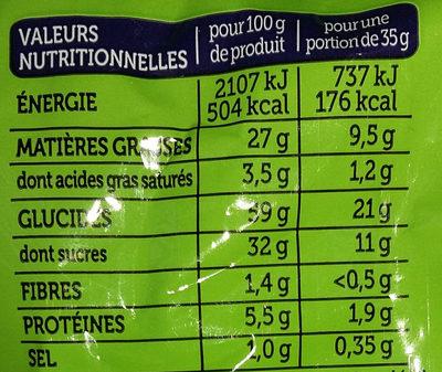 Madeleine Cœur Chocolat Goût Noisette - Informations nutritionnelles - fr