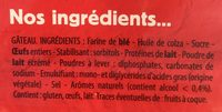 Le Moelleux Original - Ingrediënten