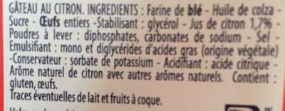 Gâteau au Citron - Ingredients - fr