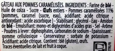 Gâteau aux Pommes Caramélisées - Ingrediënten