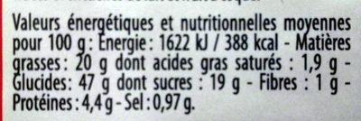 Gâteau aux Pommes Caramélisées - Voedingswaarden