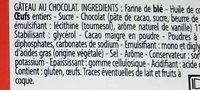 Gâteau au Chocolat - Ingrédients - fr