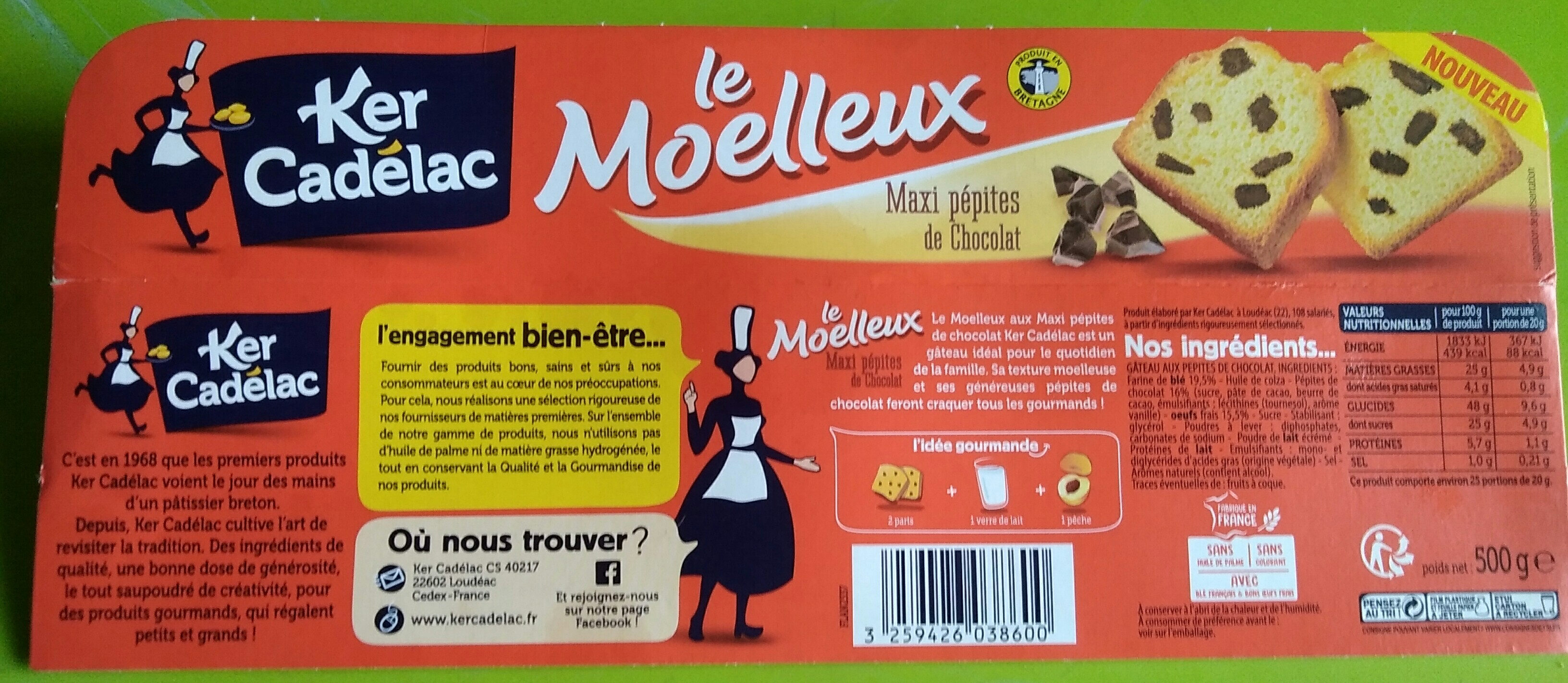 Le moelleux maxi pépites de chocolat - Produit