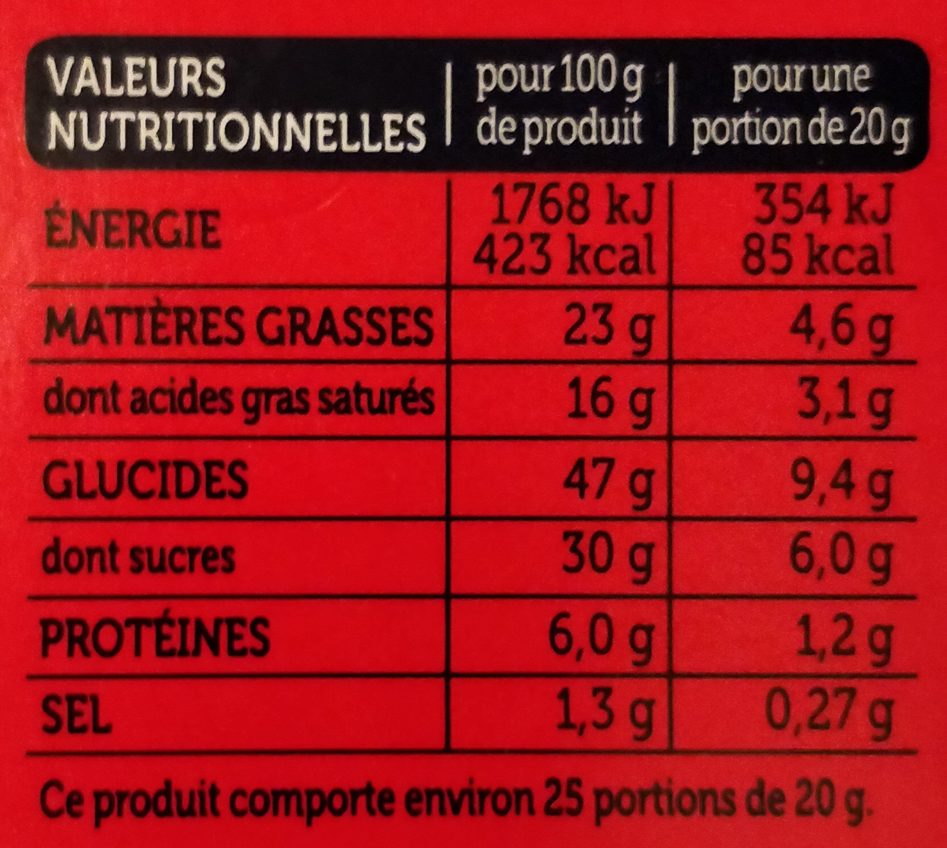 Quatre Quarts Pur Beurre - Informations nutritionnelles - fr