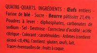 Quatre-Quarts Pur Beurre - Ingrediënten