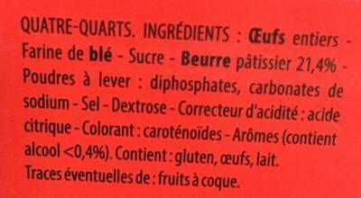 Quatre-Quarts Pur Beurre - Ingrediënten - fr
