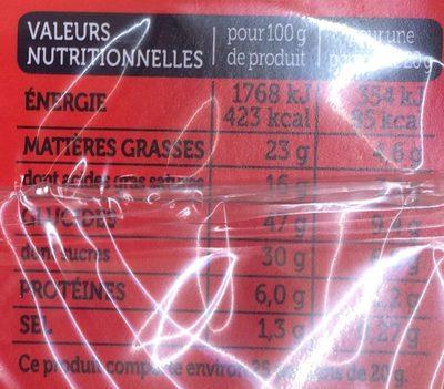 Quatre-Quarts Pur Beurre - Voedingswaarden - fr