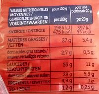Madelons - Informations nutritionnelles - fr