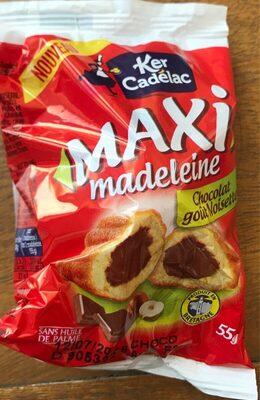 Maxi madeleine chocolat goût noisette - Produit