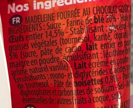 maxi madeleine - Ingrédients - fr