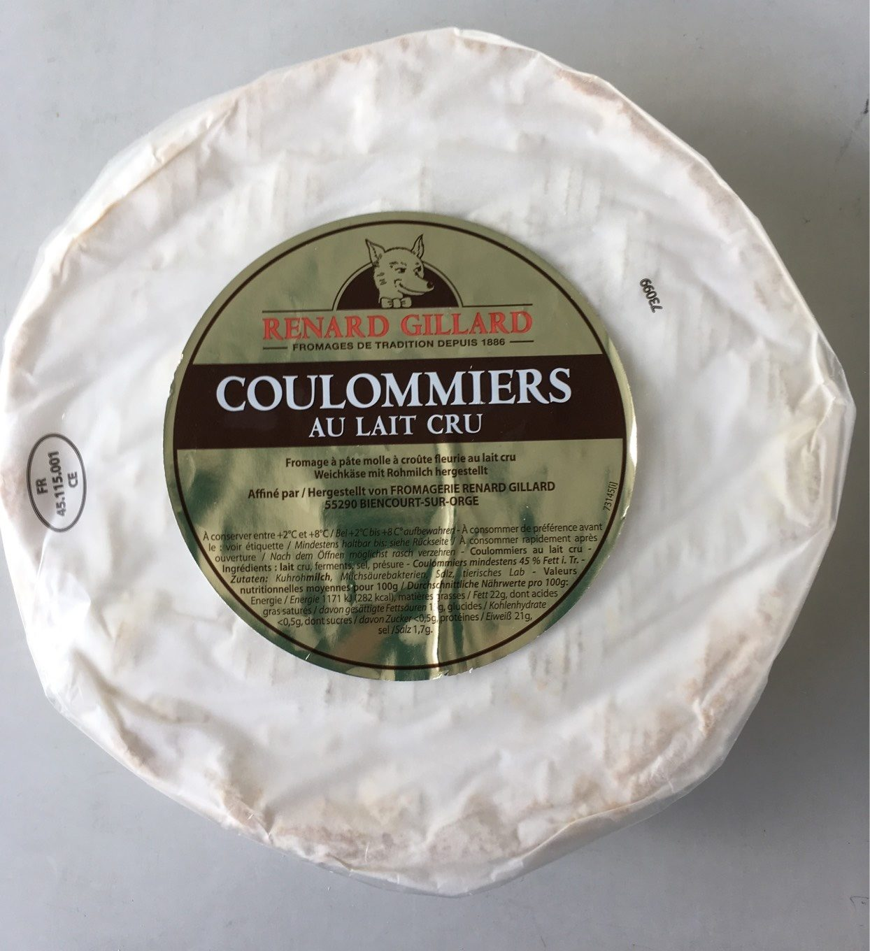 Coulommiers au lait cru - Product