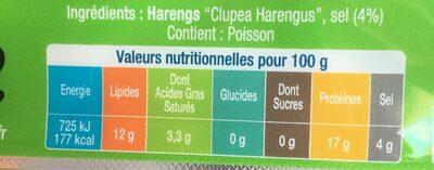 Filets de harengs - Produit - fr