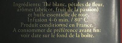 Passion de fleur - Ingrédients - fr