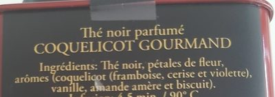 Coquelicot Gourmand 275 - Ingredients
