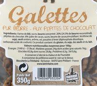 Galette pur beurre - Voedingswaarden