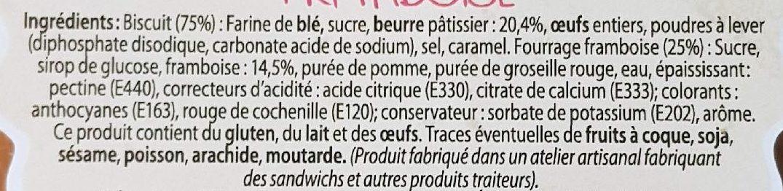 Gâteau breton framboise - Ingredients - fr