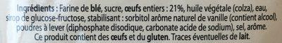 Madeleinettes aux oeufs - Ingrediënten