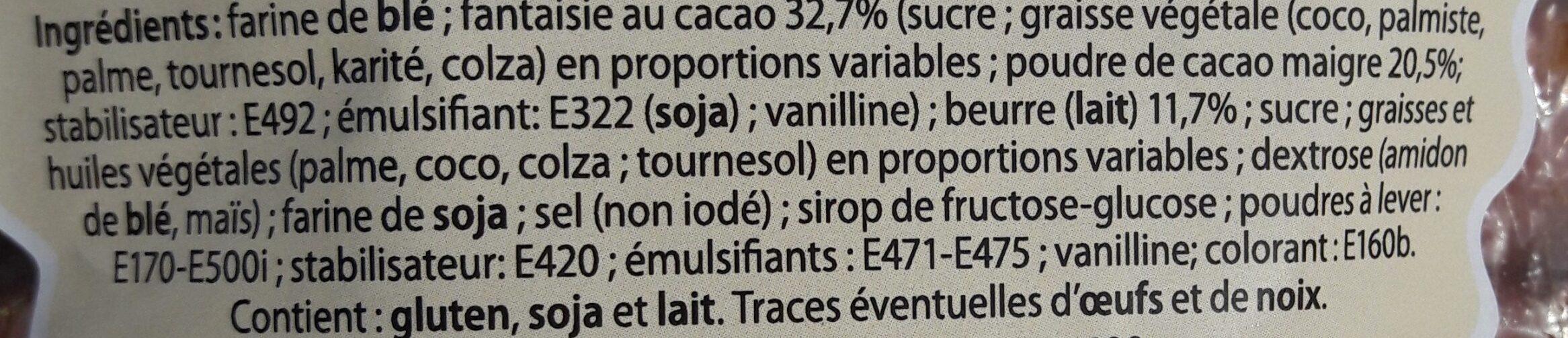 Marguerites cacao - Ingrédients - fr