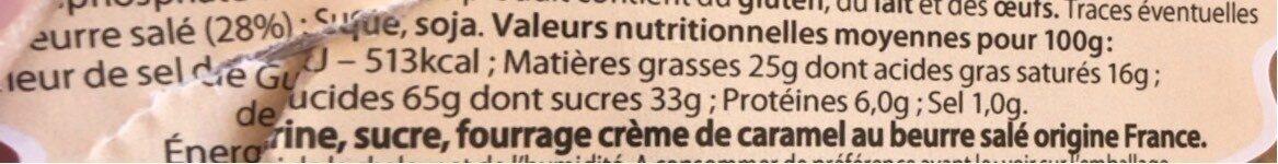 Gateau Breton - Voedingswaarden - fr