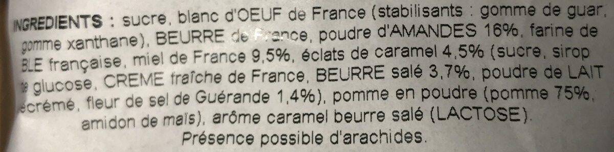 Financiers au caramel - Ingredients - fr