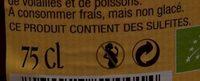 Cidre  Bouché Bio Doux - Informations nutritionnelles
