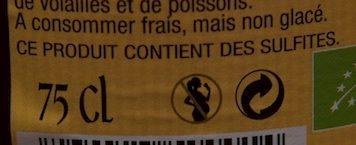 Cidre  Bouché Bio Doux - Informations nutritionnelles - fr
