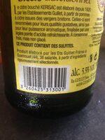 Cidre Breton - Nutrition facts