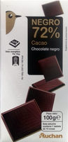 Chocolate negro 72% cacao - Producto