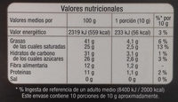 Chocolate negro 74% con pepitas de cacao caramelizadas - Informació nutricional - es