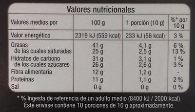 Chocolate negro 74% con pepitas de cacao caramelizadas - Voedingswaarden - es