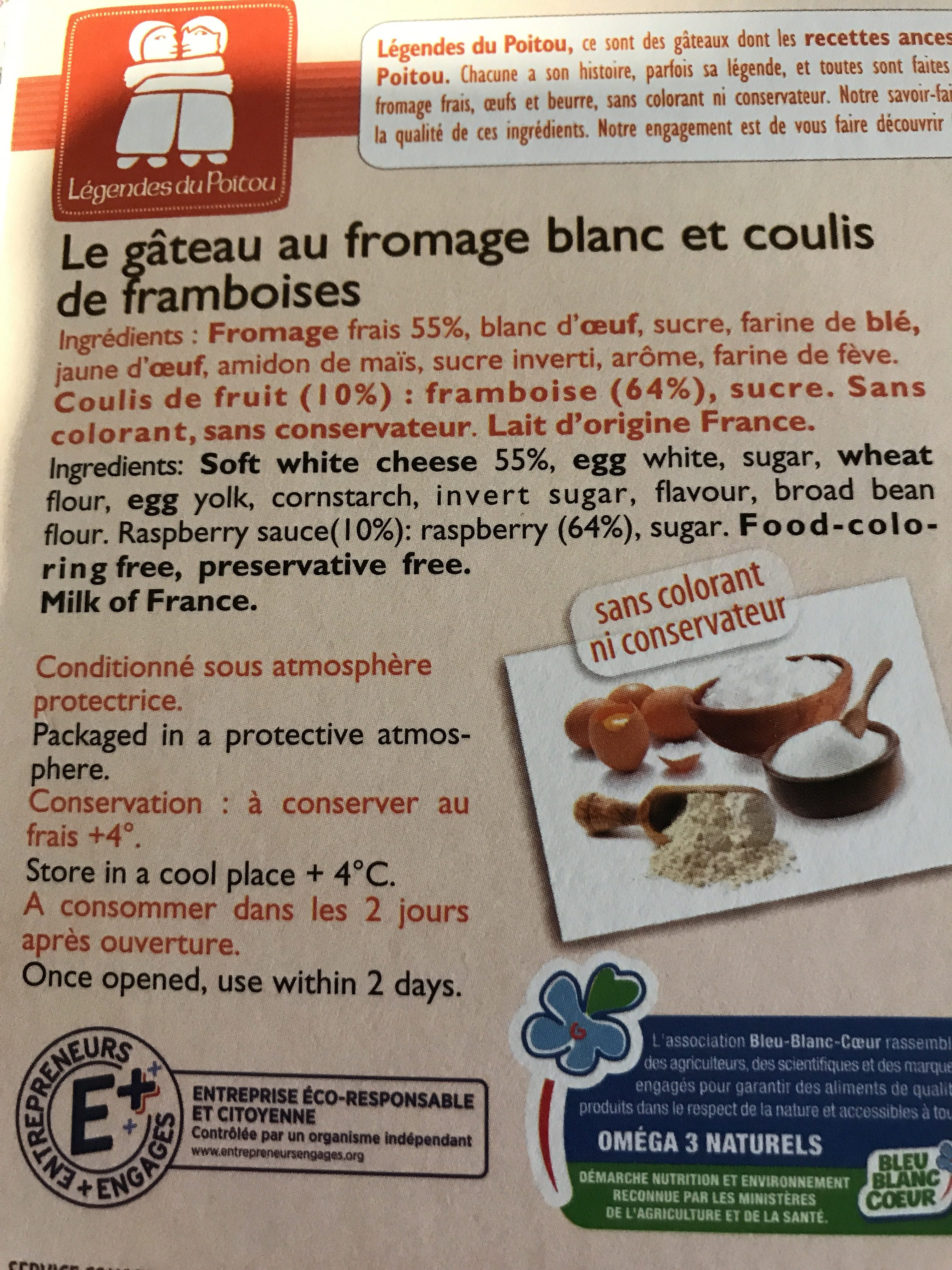 Gateau au fromage blanc - Ingredients