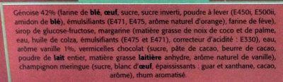 Bûche Pâtissière Roulée Arôme Vanille - Ingredients