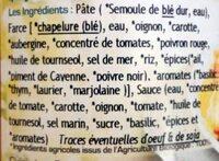 Ravioli végétarien - Ingredients - fr
