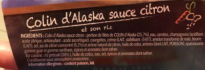 Colin d'Alaska sauce citron et son riz - Ingrediënten - fr