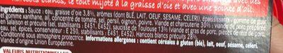 Les Cocottes Cassoulet à la Graisse d'Oie - Ingrédients - fr