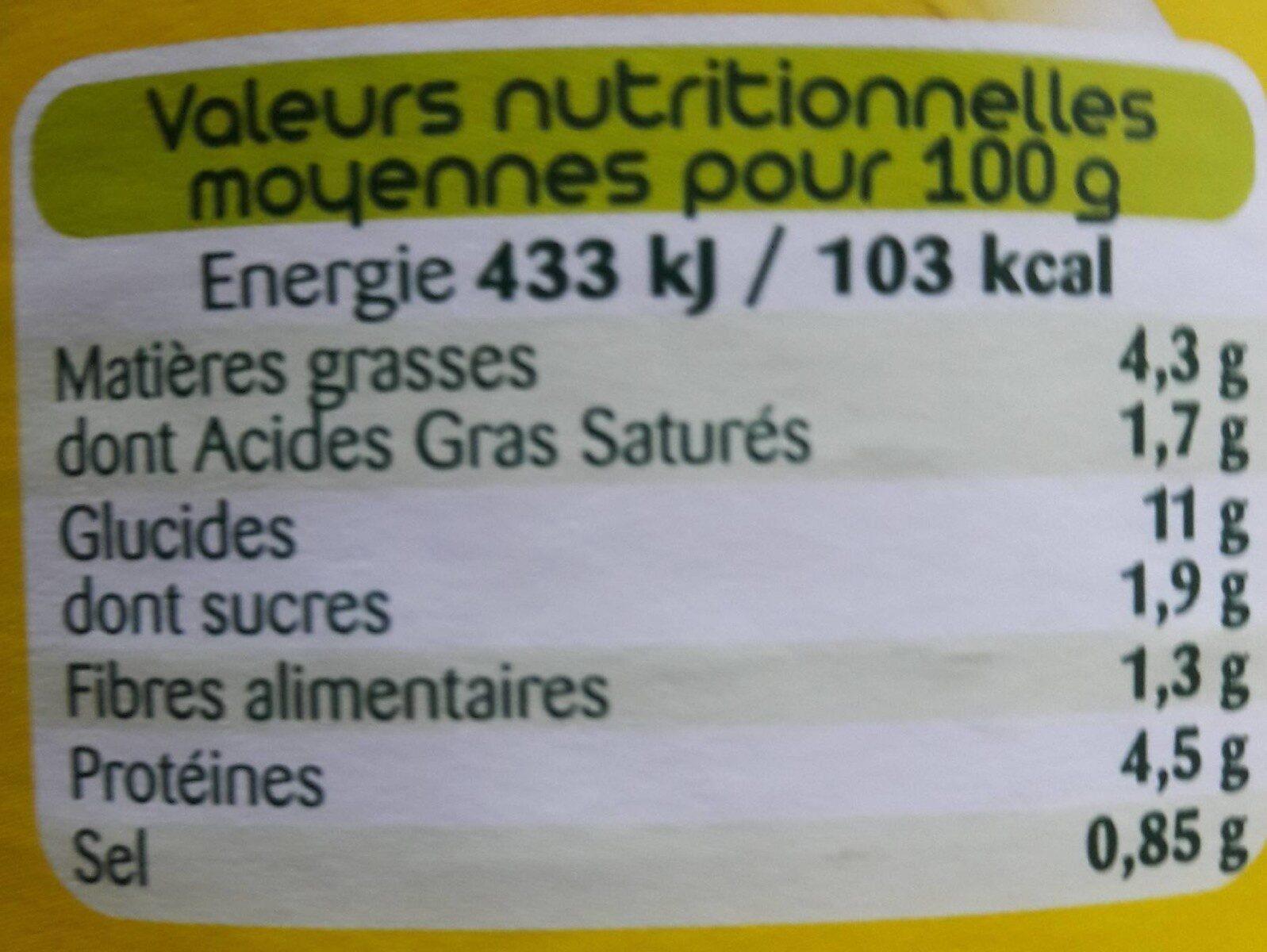 Le ravioli bolognaise - Informations nutritionnelles - fr