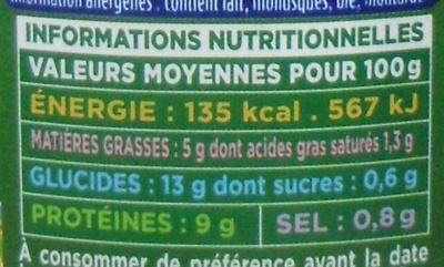 Paëlla Royale - Informations nutritionnelles - fr